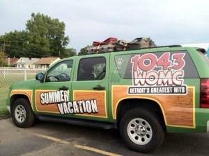 WOMC Summer Vacation car wrap