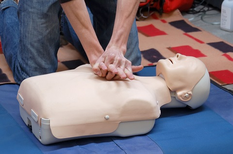 CPR Training Demonstration on Dummy