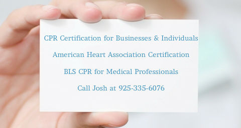 CPR certifications in Martinez, CA