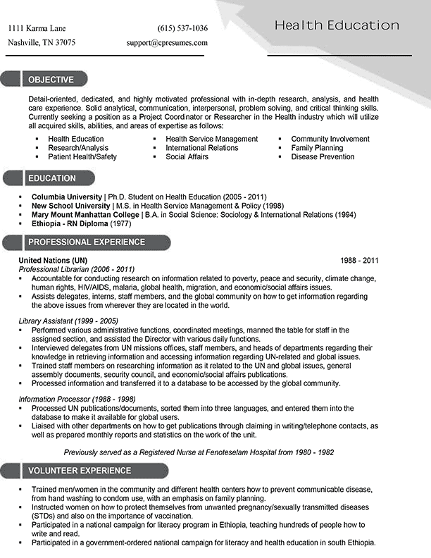 Resume Healthcare. home health care resume best template ...