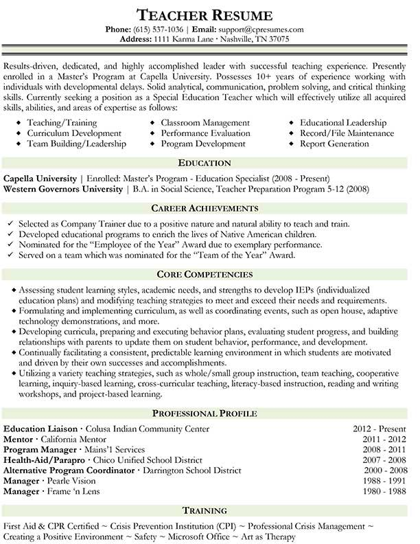 resume teachers volumetrics co