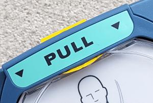 Defibrillator PULL bar