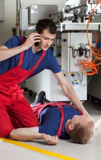 Work Place unconscious victim