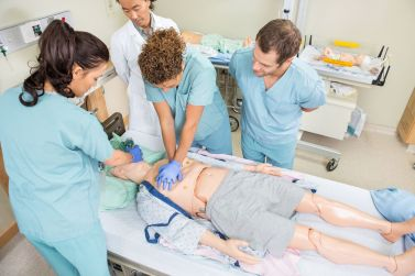 BLS Healthcare provider - CPR compression's and bag mask