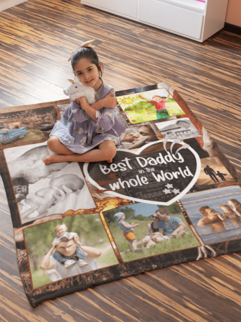 Fathers Day Photo Blanket
