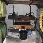 Winching Down the Apple Press