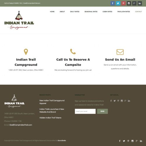 campground-website-design-indian-trail-contact