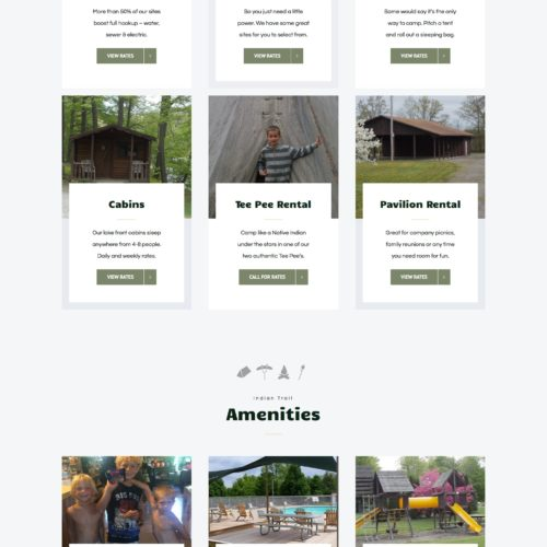 campground-website-design-indian-trail-homepage