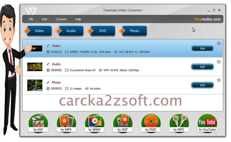 Freemake Video Converter screen