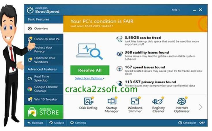 Auslogics BoostSpeed 11 Crack Screenshot