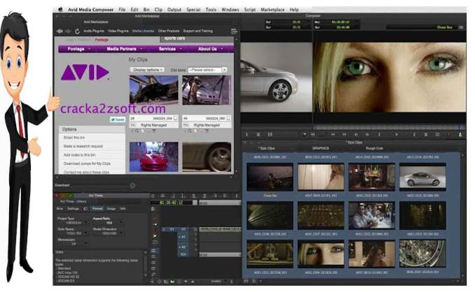 Avid Media Composer screen