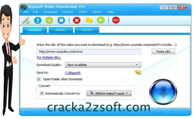 Bigasoft Video Downloader Pro screen