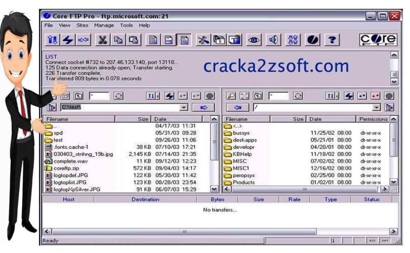 Core FTP Pro crack screenshot
