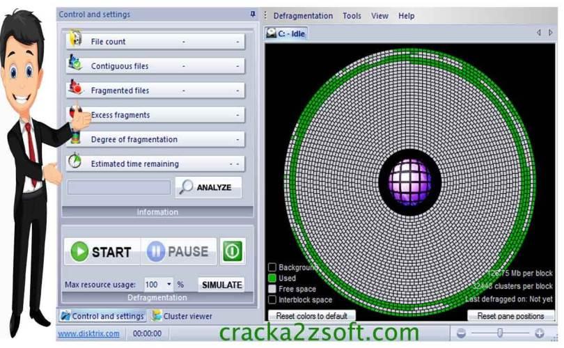 DiskTrix UltimateDefrag crack screenshot