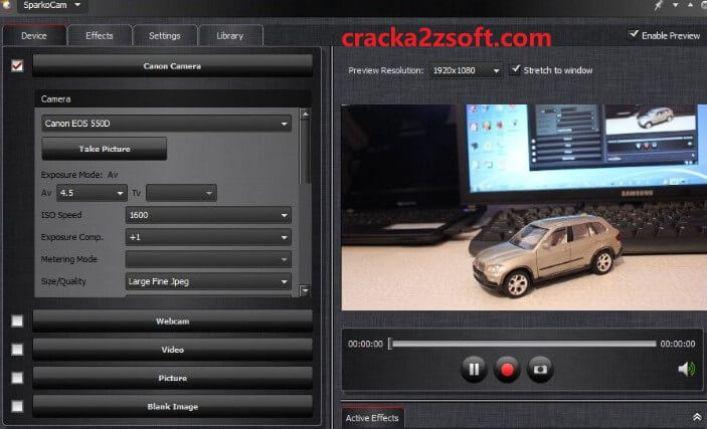 SparkoCam 2021 Crack screen