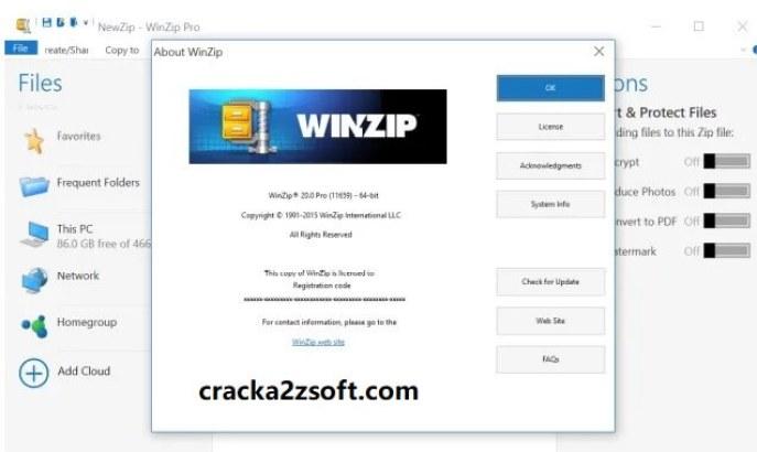 WinZip Pro 25 Crack screenshot