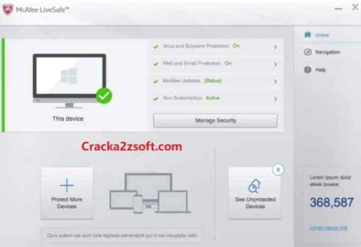 McAfee LiveSafeCrack screenshot