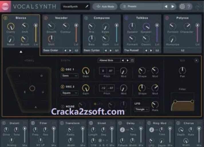 iZotope VocalSynth 2 Crack screenshot