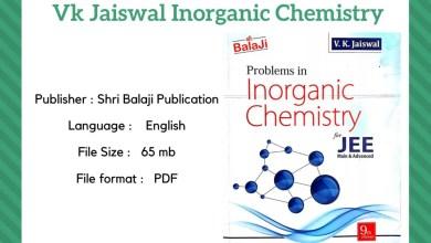 VK Jaiswal Inorganic Chemistry Pdf Download