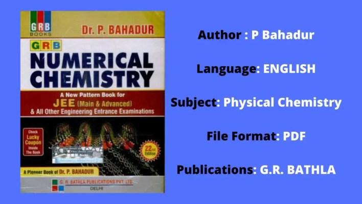P Bahadur Physical Chemistry PDF free download