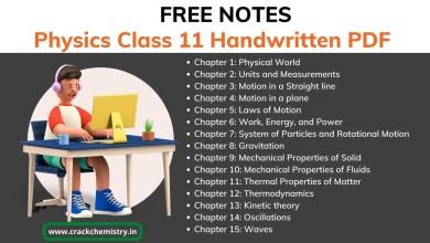 class 11 physical handwritten pdf