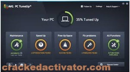 AVG PC Tuneup 2017 Crack With Serial Key (100% Work) Free Download
