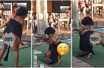 Popular Sl@y Queen shows her 'TONGA' to the Public as she does the Latest Challenge in Town [Watch Video]