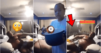 Yawa! Lady B£ats Her Boyfriend Mercilessly After Catching Him In B£d With Another Woman [Watch Video]