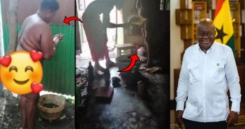 naket video of woman who went to shrine to kill akufo-addo