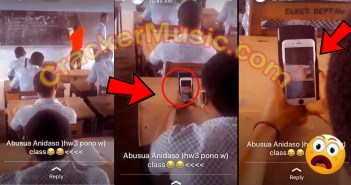 Yawa...SHS Student C@ught On C@mera Watching Porn In The Classroom With No Sh@me [WATCH VIDEO]