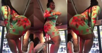 Lady With Big 'Front & Back' Cause Traffic With Her Tw3rking Skills Online