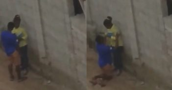 """Young Man Filmed Begging A Girl To Let Him """"Chop"""" Her In An Uncompleted Building"""