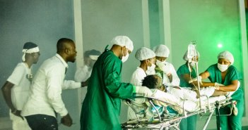 shatta wale at the hospital after shot