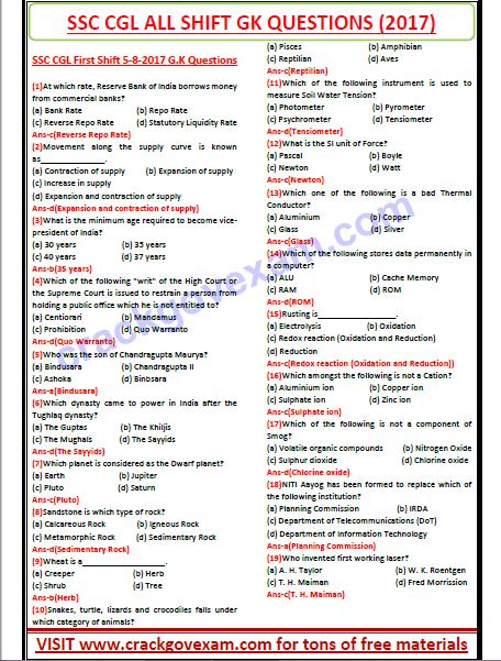 Gk Question In Hindi Pdf 2015
