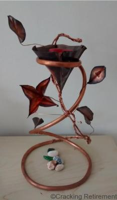 Cracking Retirement Small Copper Candlestick