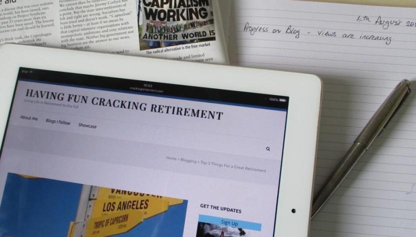 Cracking Retirement My Blog Magazine or Diary?