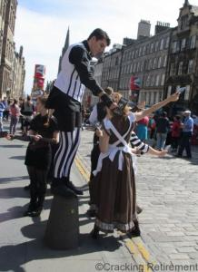 Cracking REtirement Performers Royal Mile 3