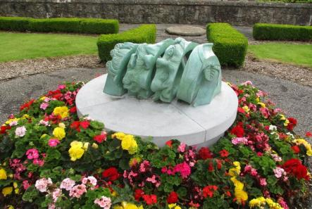 Cracking REtirement Sculpture Armagh Cathedral
