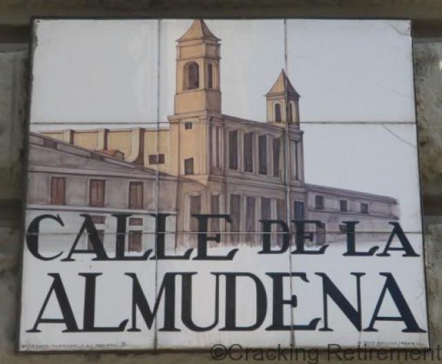 Cracking Retirement Madrid street sign