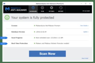 Key Malwarebytes Anti Malware v2.2.1