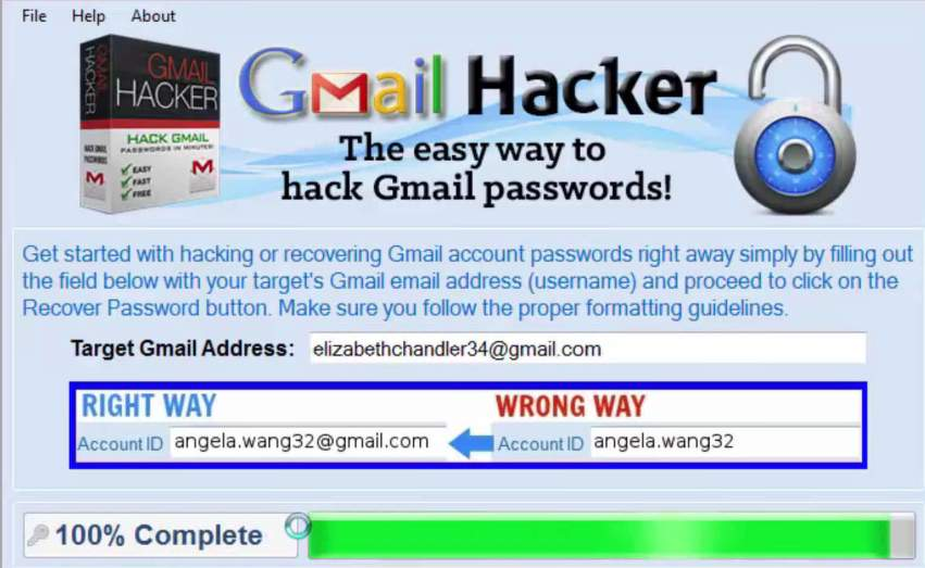 Gmail password hack tool 100 hacking in 2 minutes gmail password hacker ccuart Gallery