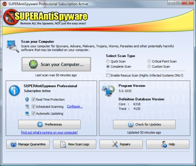 SuperAntiSpyware 6.0.1204 Download