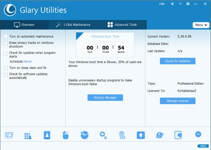 Glary Utilities Pro windows
