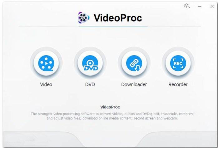 VideoProc Windows