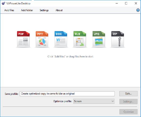 NXPowerLite Desktop Windows