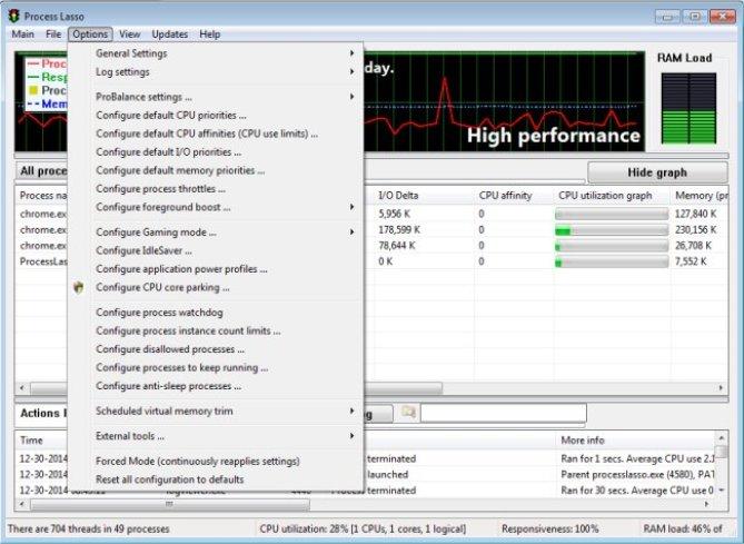 Process Lasso Pro windows