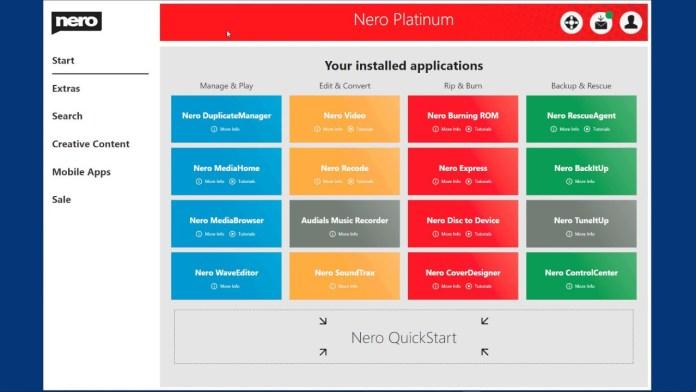Nero Platinum Suite latest version