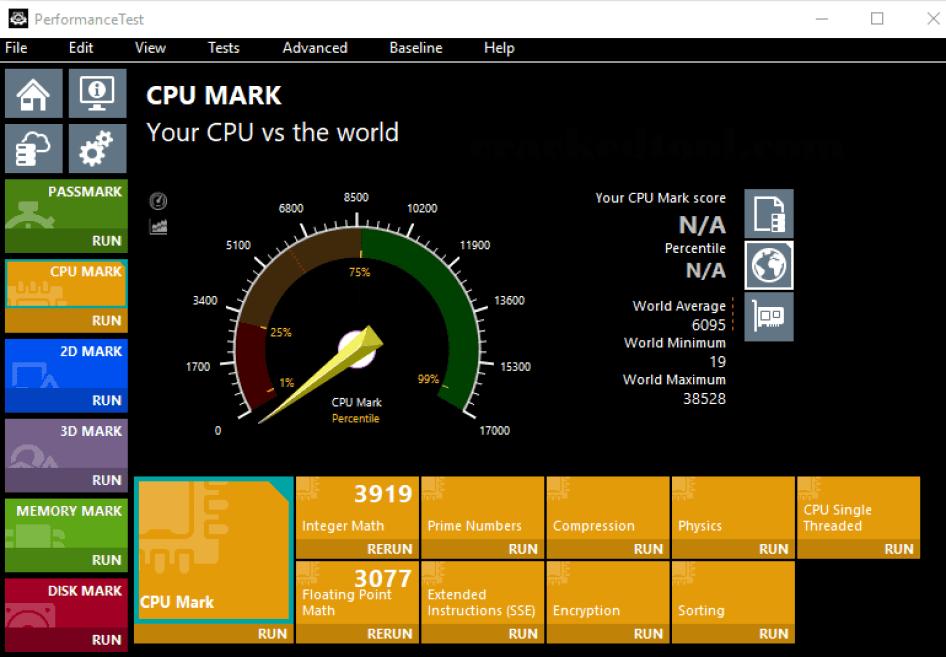 PassMark PerformanceTest latest version