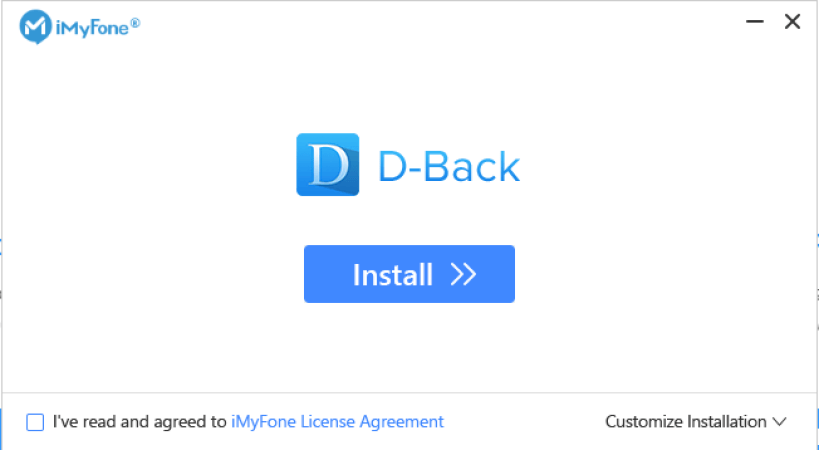 iMyFone D-Back latest version