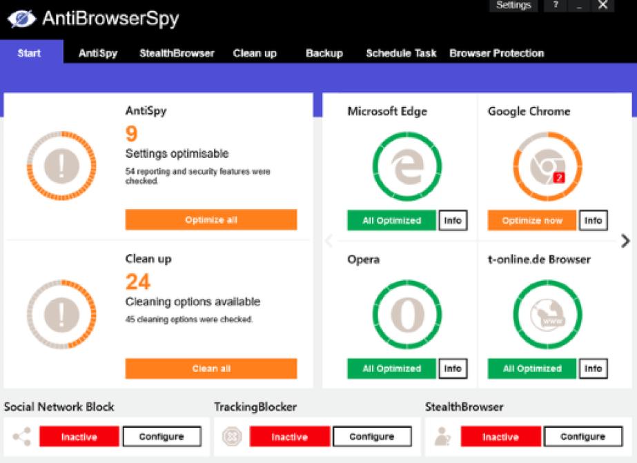 Abelssoft AntiBrowserSpy latest version